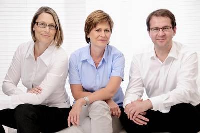 Dres. med. Antje Spens, Kerstin Pirlich und Tobias Wiesner (v.l.n.r.)